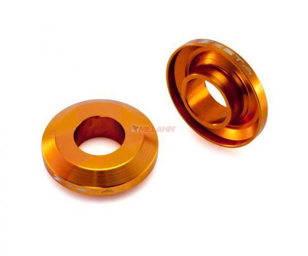 ZETA Aluminium Radbuchsen: FastSpacer (Paar), für Radlager hinten SX 03-12 / EXC 03-, orange