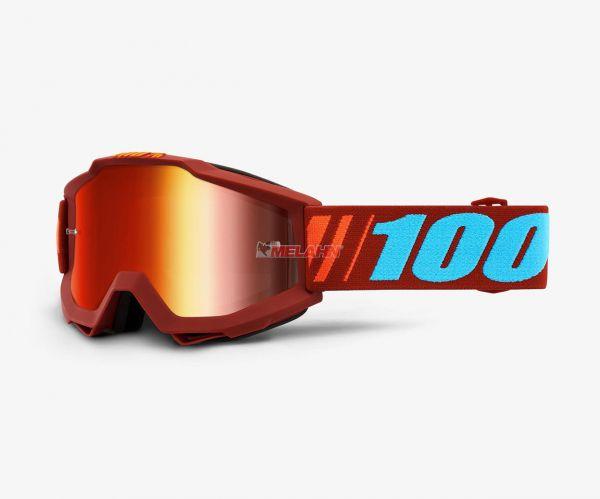 100% Brille: Accuri Dauphine rot verspiegelt
