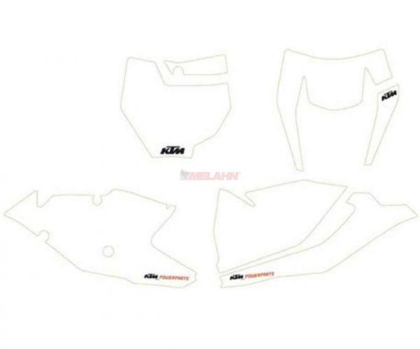 KTM Starttafelaufkleber-Set SX 19- / EXC 20-, 4-teilig, weiß
