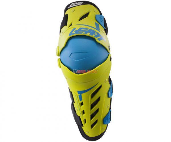 LEATT Knie- und Schienbeinprotektor (Paar): Dual Axis, lime/blau