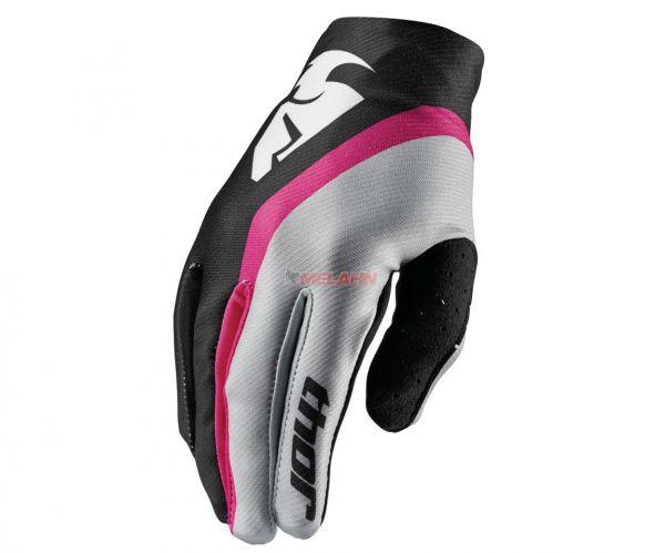 THOR Girls-Handschuh: Void, pink/schwarz