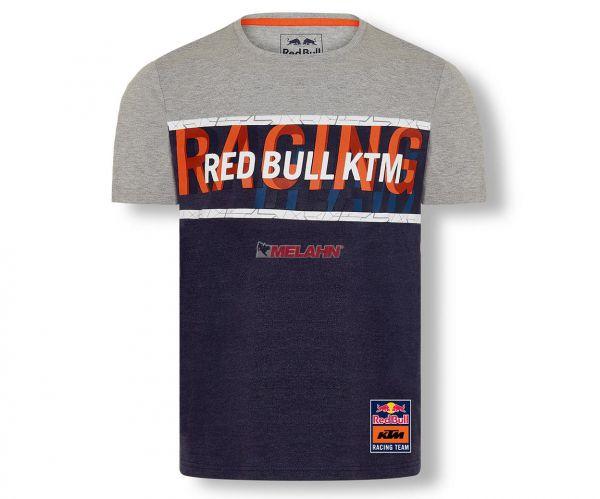 KTM RED BULL T-Shirt: Letra, grau/navy