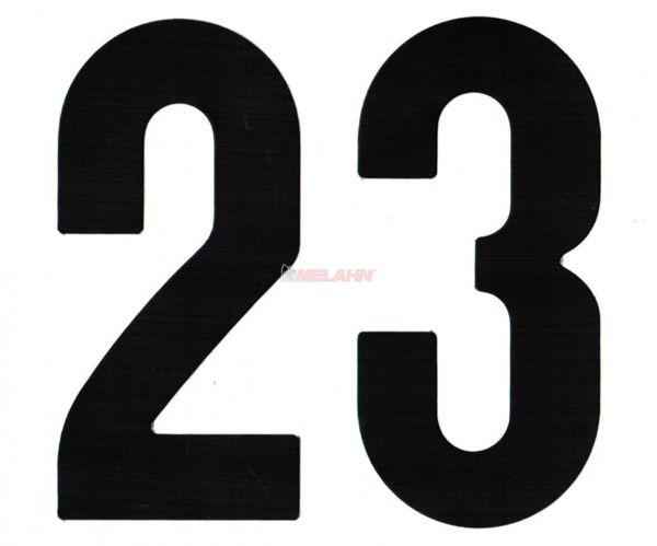 MT Enduro-Zahlen 15cm einzeln, schwarz