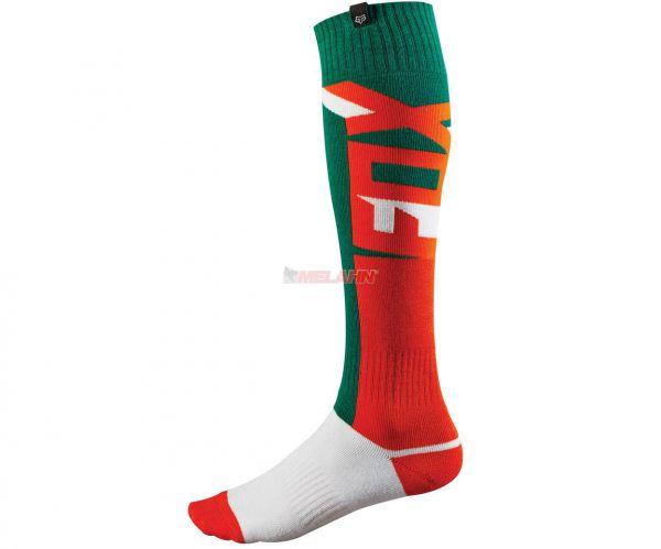FOX Socke (Paar): FRI dünn, grün/orange