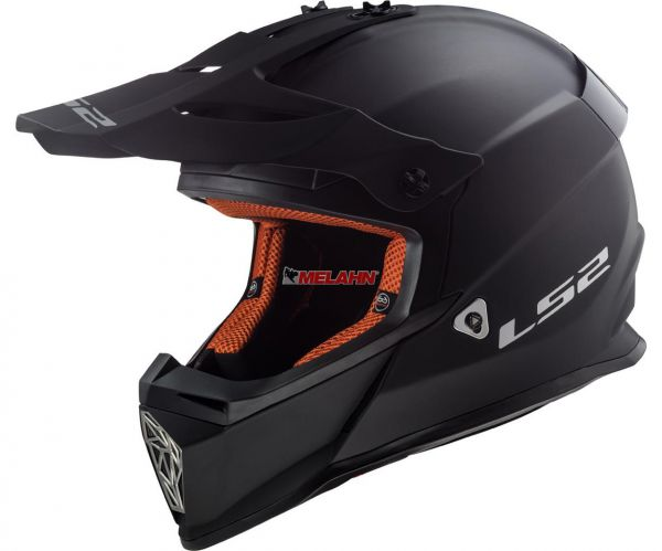LS2 Helm: Fast MX 437, Solid, matte black