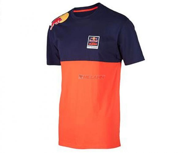 KTM RED BULL T-Shirt: KTM Racing Team, orange/blau