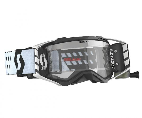 SCOTT Prospect WFS Goggle Motocross MTB MX Enduro Cross Brille weiß-schwarz klares Glas