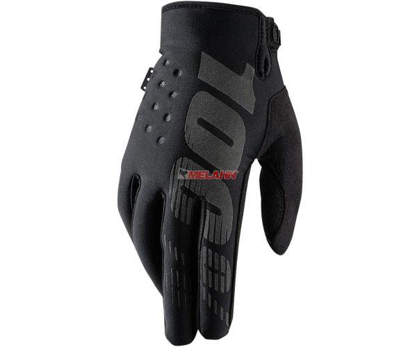 100% Handschuh: Brisker, Neopren, schwarz