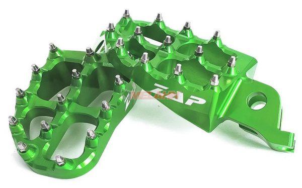 ZAP E-Peg Aluminium-Fußrasten (Paar), KX/KXF 06-, grün