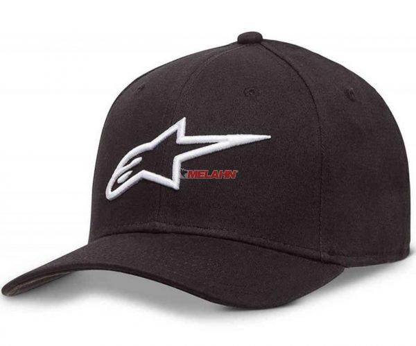 ALPINESTARS Cap: Ageless Curve, schwarz/weiß