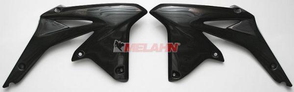 UFO Spoiler (Paar), Kühlerverkleidung RMZ 450 09-17, gelb/schwarz (original)