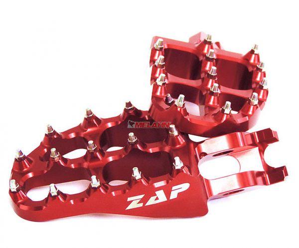 ZAP E-Peg Aluminium-Fußrasten (Paar), CR/CRF 02-, rot