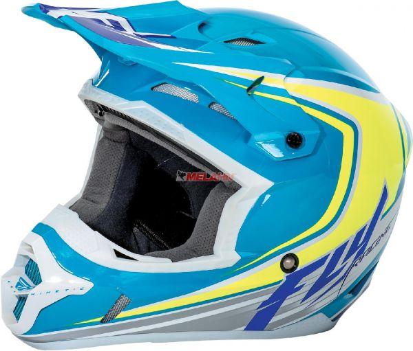 FLY Helm: Kinetic Flex, blau/grün