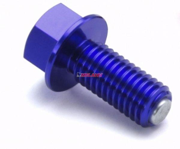 ZETA Aluminium-Ölablassschraube magnetisch M10x15 1.25, blau