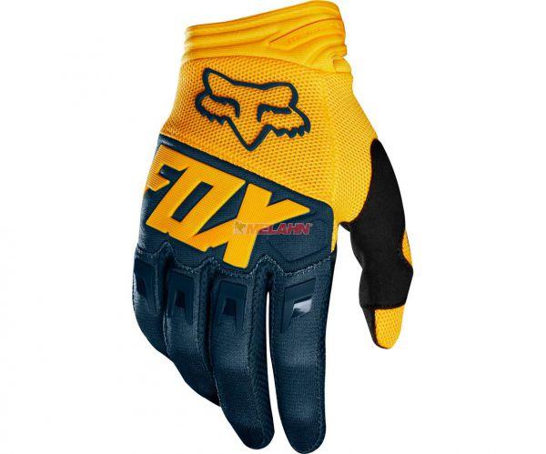 FOX Handschuh: Dirtpaw Race, blau/gelb