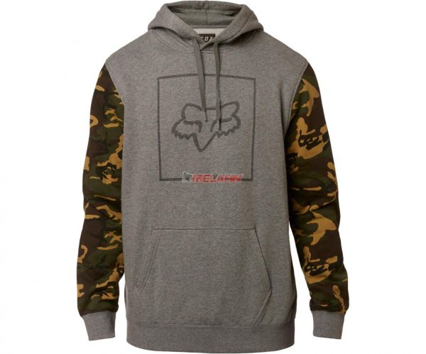 FOX Hoody: Chapped, grau/camo