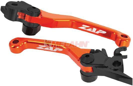ZAP Flex-Kupplungs-/Bremshebel-Set KTM/HUS/HVA(Brembo) 14-, orange