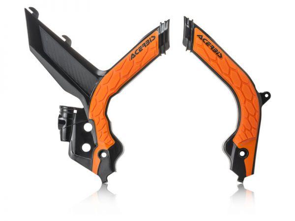 ACERBIS Rahmenschützer (Paar): X-Grip KTM SX 2019-, schwarz/orange