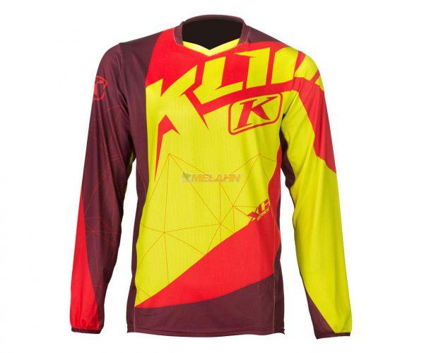 KLIM Jersey: XC, gelb/rot
