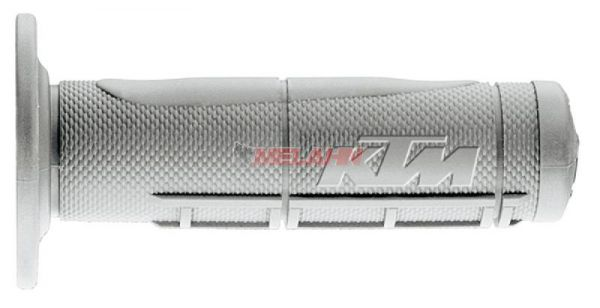 KTM Griff (Paar): OEM Half Waffle soft, hellgrau
