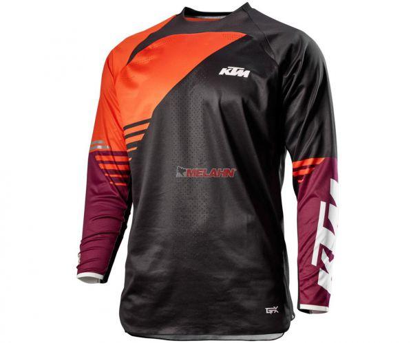 KTM Jersey: Gravity-FX, schwarz/orange/burgund