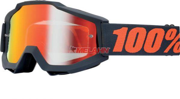 100% Brille: Accuri Matte Gunmetal, grau/orange