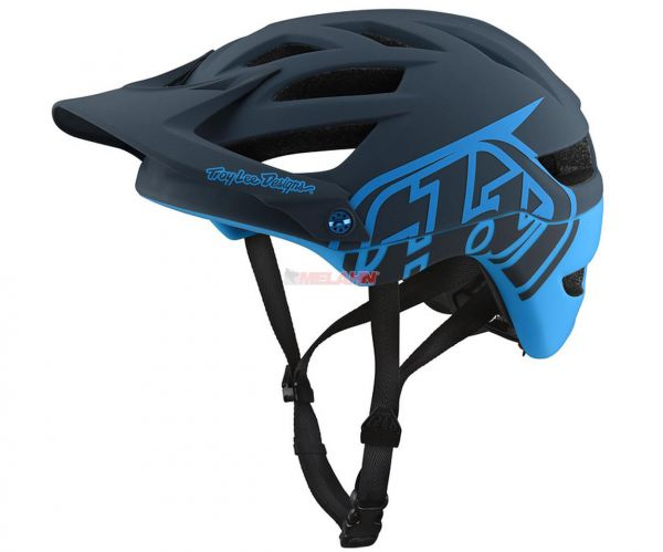 TROY LEE DESIGNS MTB-Helm: A1 Drone, grau/blau