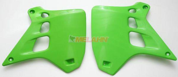 UFO Spoiler (Paar) Kühlerverkleidung KX 250 91, grün