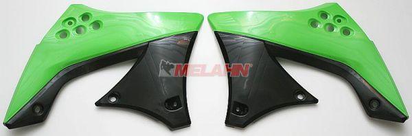 UFO Spoiler (Paar) Kühlerverkleidung KXF 450 2009, grün05