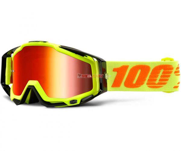 100% Brille: Racecraft Attack, neon-gelb