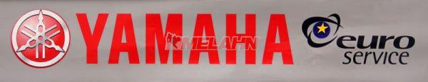 YAMAHA Aufkleber: rot/grau 10x49,5cm