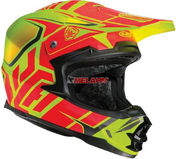 HJC Helm: FG-X Grand Duke, neon-gelb/neon-rot, Größe L