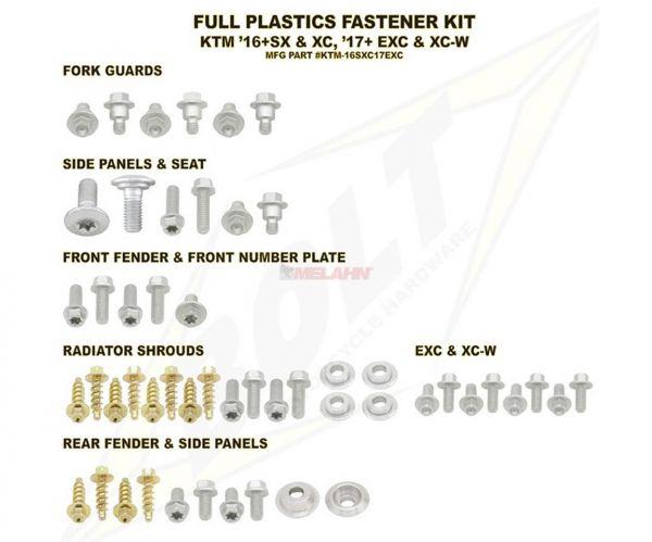 BOLT Schraubenkit Plastikteile EXC 17- / SX 16-