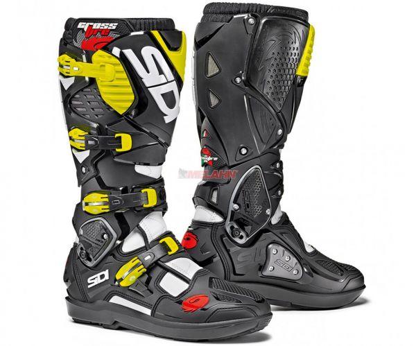SIDI Stiefel: Crossfire 3 SRS, schwarz/weiß/neon-gelb