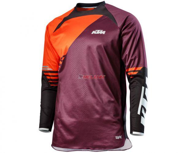 KTM Jersey: Gravity-FX, burgund/orange/schwarz