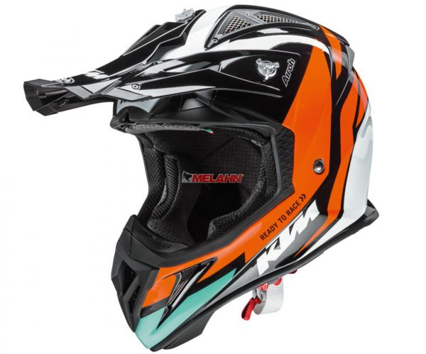 KTM AIROH Helm: Aviator 2.2, schwarz/orange