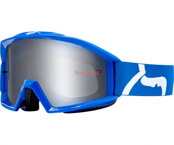 FOX Brille: Main Race, klares Glas, blau