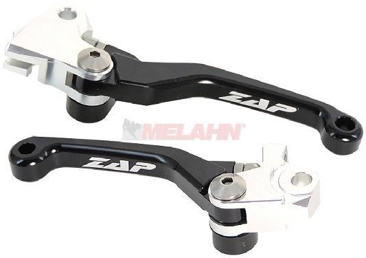ZAP Flex-Kupplungs-/Bremshebel-Set CRF 250 07- / 450 07-20, schwarz