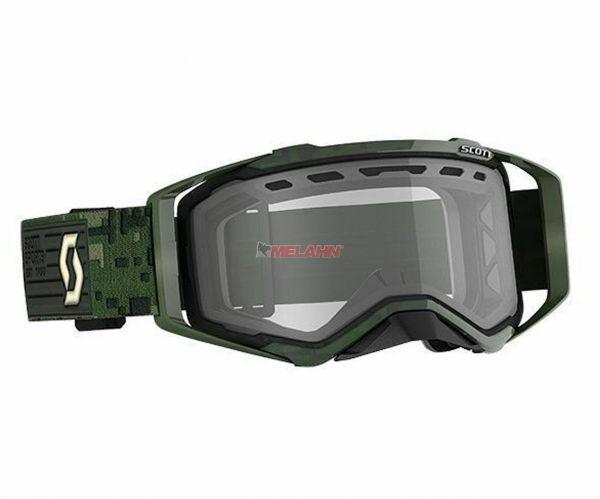 SCOTT Prospect MX Brille Motocross Enduro Goggles Crossbrille khaki green klares Glas