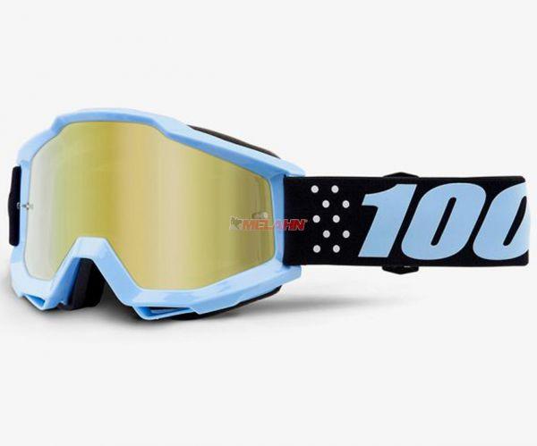 100% Kids Brille: Taichi, schwarz/blau