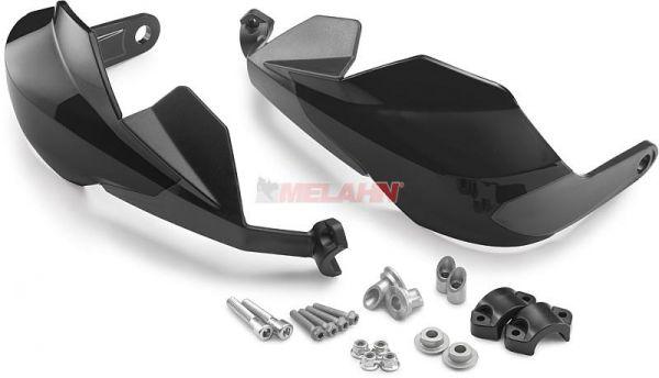 KTM Handprotektoren (Paar): Geschlossen groß, schwarz
