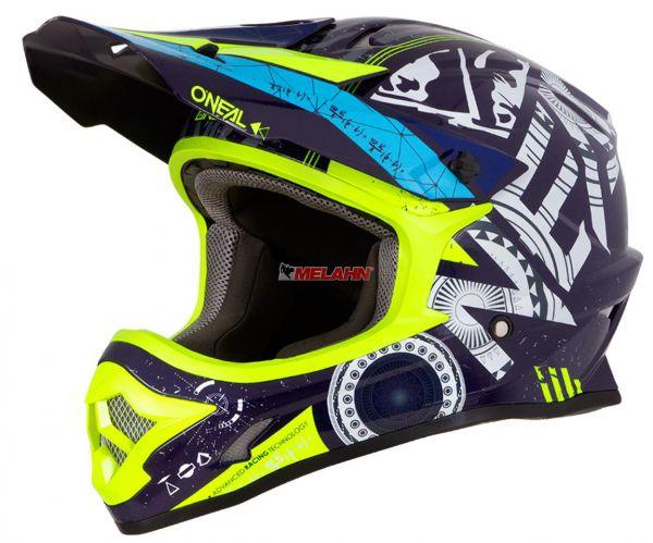 ONEAL Helm: 3Series, HELIUM, schwarz/blau