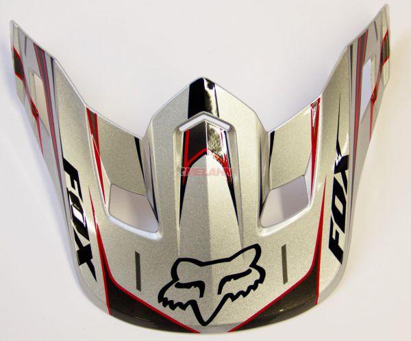FOX Helmschirm: V2 Race Visor, silber