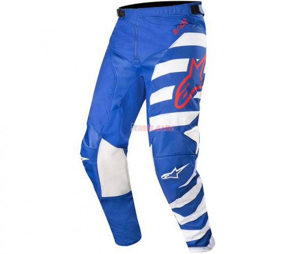 ALPINESTARS Hose: Racer Braap, blau/weiß/rot