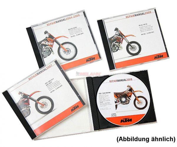 KTM Werkstatthandbuch auf DVD: 250/350 Freeride 2012-