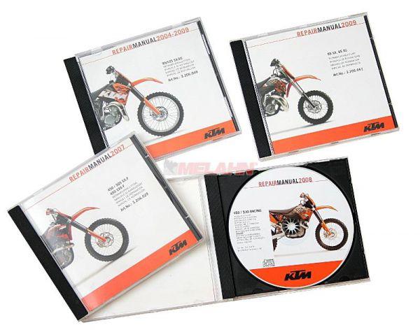 KTM Werkstatthandbuch auf CD: 250-525 EXC Racing 00-07