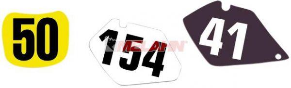 BLACKBIRD Startnummernuntergrund KX 125/250 99-02, weiß