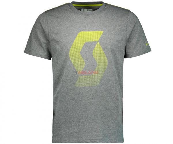 SCOTT T-Shirt: Factory Team Icon, grau/gelb