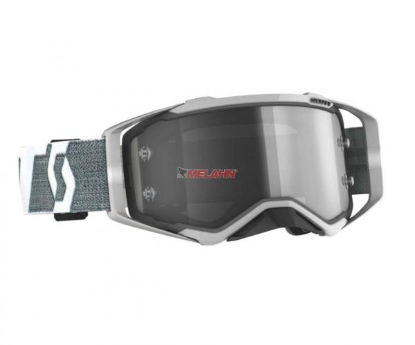SCOTT Prospect LS Goggle Motocross MTB MX Enduro Cross Brille grau-weiß LS Scheibe