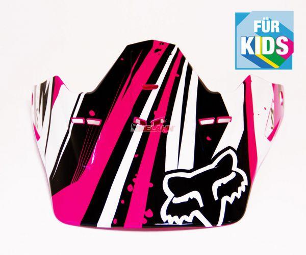 FOX Kids Helmschirm: Visor V1 Undertow, pink